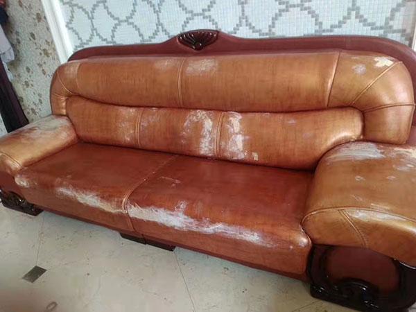 真皮沙发换皮